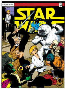 An homage to Howard Chaykin's cover of Marvel's original Star Wars #2